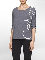 Calvin Klein Performance Logo Boxy 3/4 Sleeve Shirt