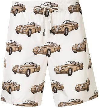 Dolce & Gabbana Small Car Print Swim Shorts