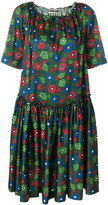 Hache floral flared dress