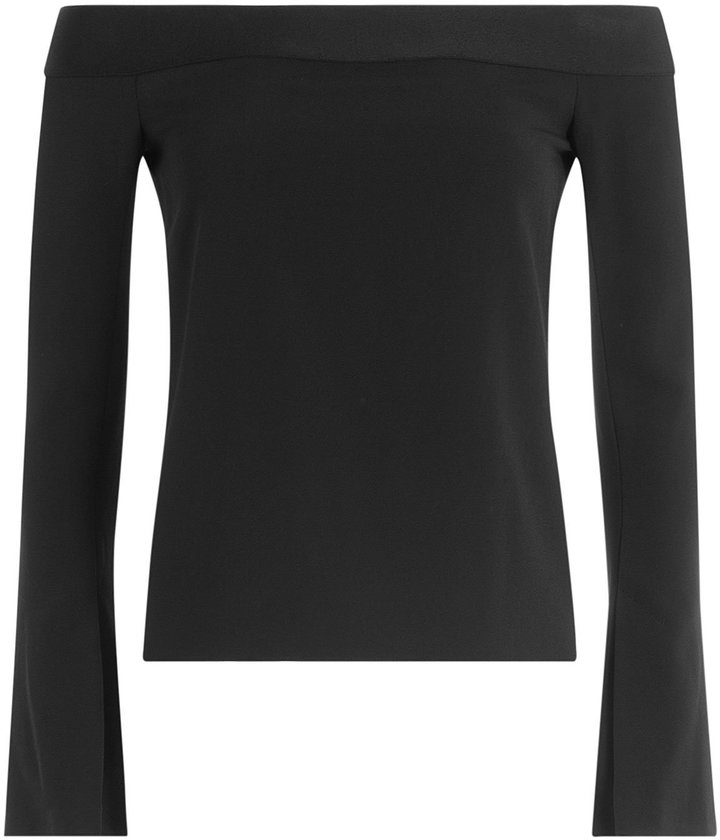 Roland Mouret Off-the Shoulder Top with Ruffles