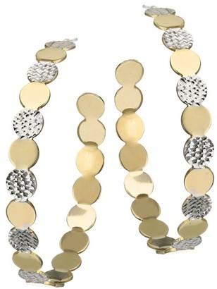 Jennifer Zeuner Jewelry Bianca Two-Tone Medium Hoop Earrings