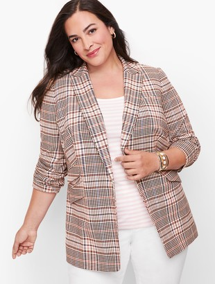 Talbots Friday Plaid Blazer