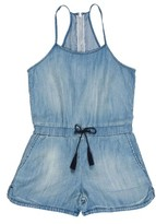 Tractr Girl's Chambray Romper