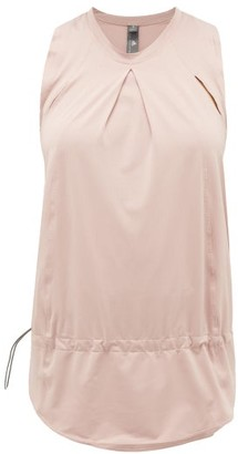 adidas by Stella McCartney Inverted-pleat Cut-out Performance Top - Light Pink