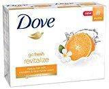 Dove go fresh Beauty Bar, Mandarin and Tiare Flower 4 oz, 8 Bar