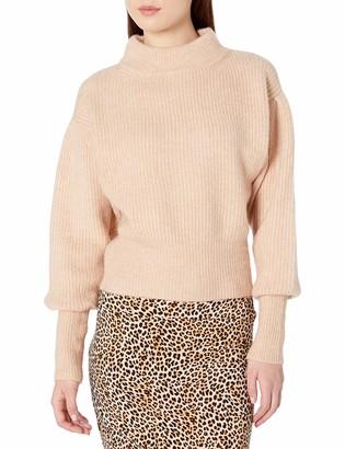 ASTR the Label Women's Regis Mock Neck Ribbed Knit Sweater