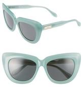 Women's Sonix Coco 55Mm Cat Eye Sunglasses - Cloud/ Black Solid