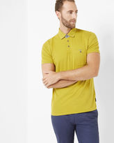 PICCALO Textured knit polo shirt