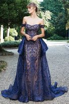 MNM Couture - Off-Shoulder Lace Embroidered Gown N0134