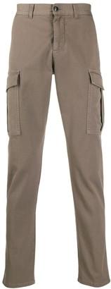 Eleventy Cargo Pocket Slim-Fit Trousers