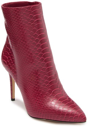 Aldo Roidda Snakeskin Embossed Leather Ankle Boot
