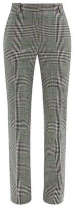 Pallas Paris Hudson Prince-of-wales Check Wool Trousers - Black Green