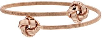 Sterling Silver Love Knot Bangle Bracelet
