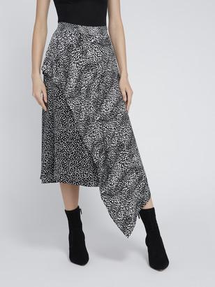 Alice + Olivia Danita Asymmetrical Midi Skirt