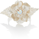 Rodarte Silver Flower Bracelet with Swarovski Crystal Detail