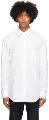 Thom Browne White Mono Oxford 4-Bar Classic Shirt