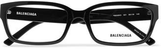 Balenciaga Rectangle-Frame Acetate Optical Glasses - Men - Black