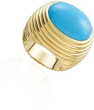 N. NeverNoT Grab Go - Turquoise Ready 2 Love Ring - Yellow Gold