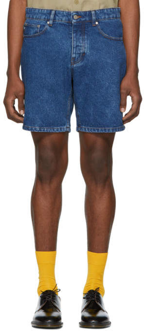 ssense-exclusive-blue-denim-washed-shorts by ssense-exclusive-blue-denim-washed-shorts