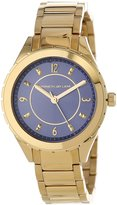 Kenneth Jay Lane Women's KJLANE-2205 Blue Sunray Dial Gold Ion-Plated Stainless Steel Watch