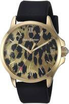 Juicy Couture Women's 1901619 Sport Jetsetter 38mm Gp Case and Leopard Printed Dial Watch