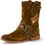 Frye Nat Flower Studded Suede Boot