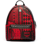 MCM Stark Baroque-Print Medium Backpack