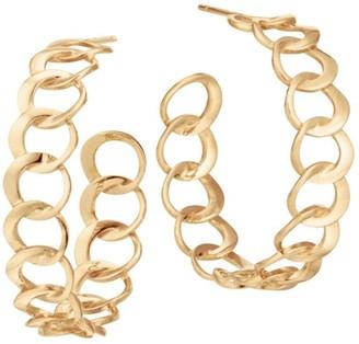 Lana 14K Yellow Gold Bond Link Hoop Earrings