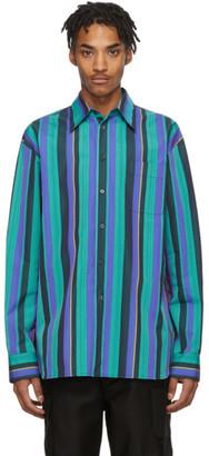 Marni Multicolor Poplin Striped Shirt