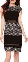 Studio 1 Sleeveless Lace Sheath Dress