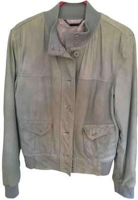 Le Sentier Green Suede Jacket for Women