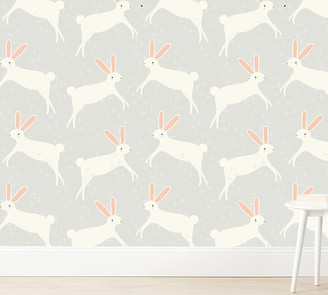 Pottery Barn Kids Chasing Paper Wallpaper Leaping Bunnies