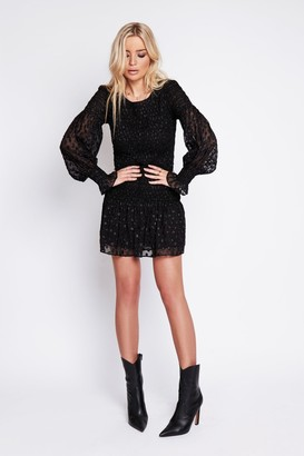 Arri London Paris Smocked Lurex Dress