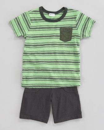 Splendid Littles Jasper Striped Tee & Shorts Set