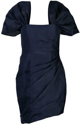 HANEY Octavia lurex bustier dress
