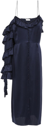 Magda Butrym Pozallo Ruffled Silk Midi Dress