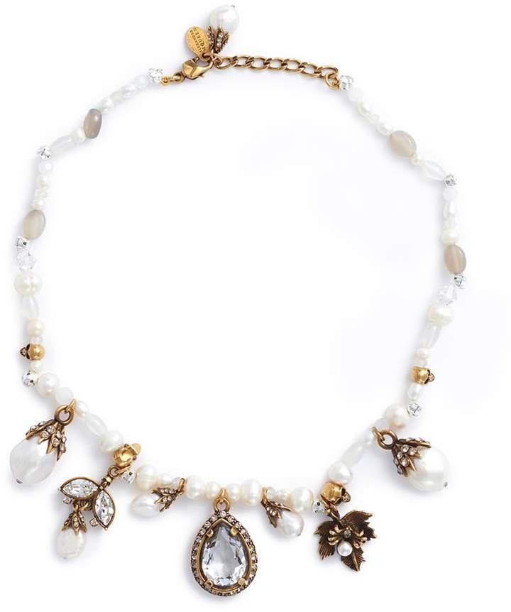 Alexander McQueen Swarovski crystal pearl beaded choker