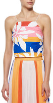 Elle Sasson Marrisa Flower-Stripes Top