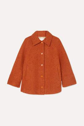 See by Chloe Cropped Wool-blend Tweed Jacket - Orange