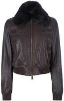 DSquared DSQUARED2 leather bomber jacket