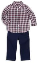 Ralph Lauren Baby Boy's Three-Piece Plaid Shirt, Chino Pants And Belt Set
