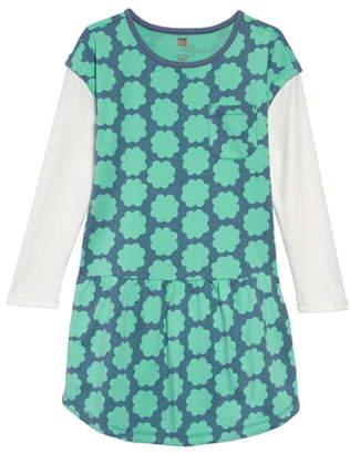Tea Collection Layered Sleeve Drop Waist Dress