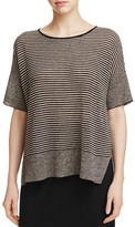 Eileen Fisher Mixed Knit Stripe Sweater
