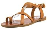 Steve Madden Agathist Women Open-toe Leather Tan Slingback Sandal.