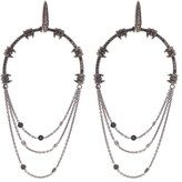 Stephen Webster White Gold Black Diamond Drop Earrings