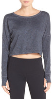 Zella Ready or Not Crop Pullover Tee