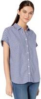 Goodthreads Amazon Brand Women's Brushed Twill Short-Sleeve Button-Front Shirt