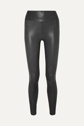Sprwmn Leather Leggings - Charcoal