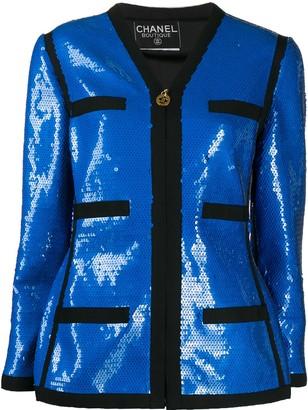 Chanel Pre Owned 1991 Sequin-Embellished Jacket