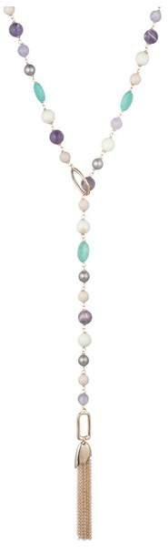 Alexis Bittar Beaded Lariat Tassel Necklace
